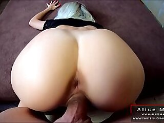 Fat Teen Butt Fucking By Fat Cock! Amazing POV In all directions Fat Cum! AliceMargo.com